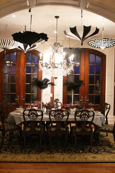 parisian soriee, paris party, umbrellas wedding, paris wedding, paris dinner, gourmet dinner, paris themed party, vintage umbrellas