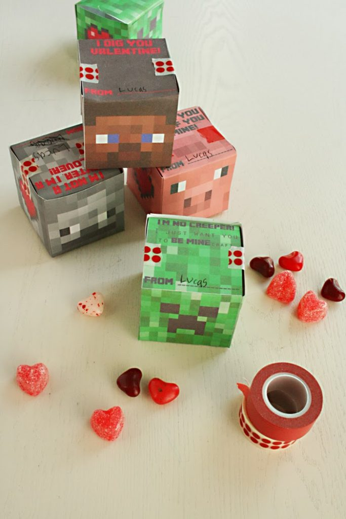... Valentine Boxes. I Have A Feeling I Might Be Reusing These Boxes In The  Future For A Birthday Or Something. They Came Out Has Cute As Minecraft Can  Be ...