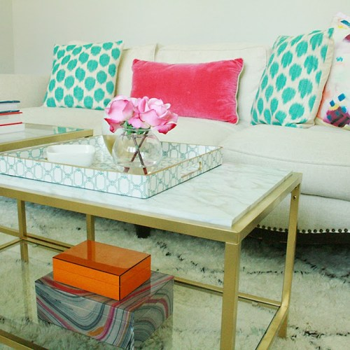 DIY Marble Gold Coffee Table