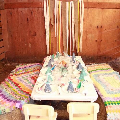 Thanksgiving Barn Dinner: Children's Table