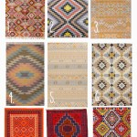 Tribal Pattern Flat Rugs