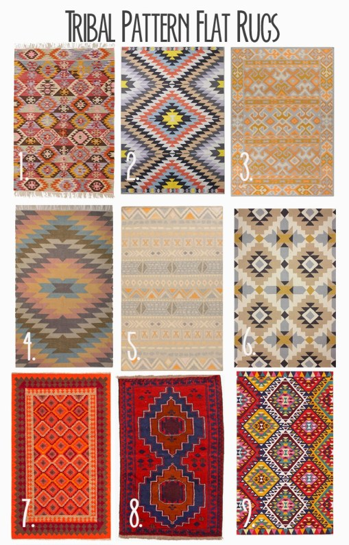 Aztec Killim | Floor Pouf | Gallery Wall | Tribal Pattern | Flat Rugs | Home Decor | Living Room Decor | Inexpensive