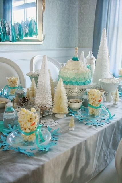 frozen hot chocolate birthday party