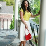 Fashion Post: White Midi Skirt + Watercolor Heels