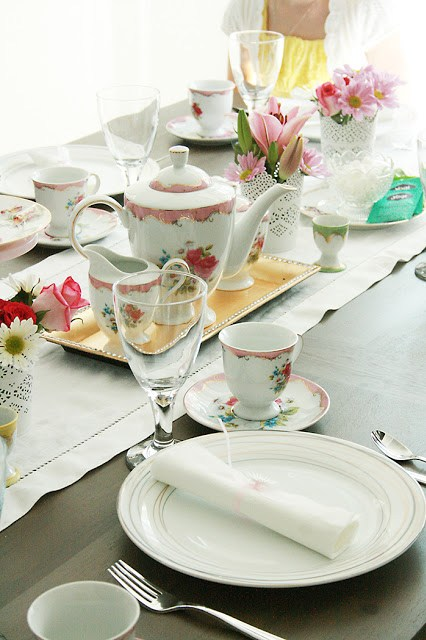 tea party, mother daughter party, brunch tea