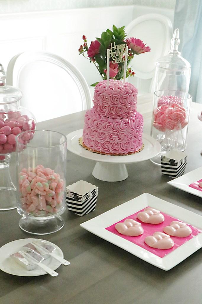 pink-rosette-birthday-cake
