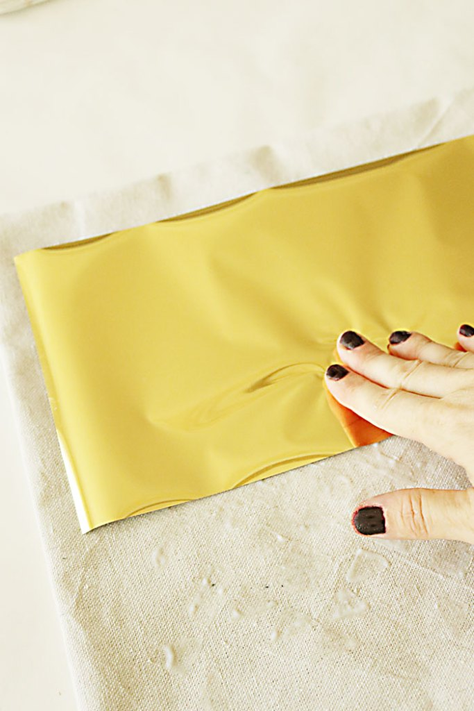diy-gold-foil-applying
