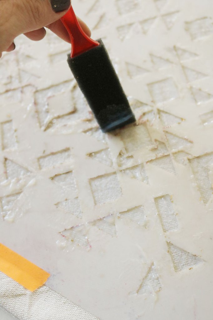 diy-gold-foil-stencil-with-glue
