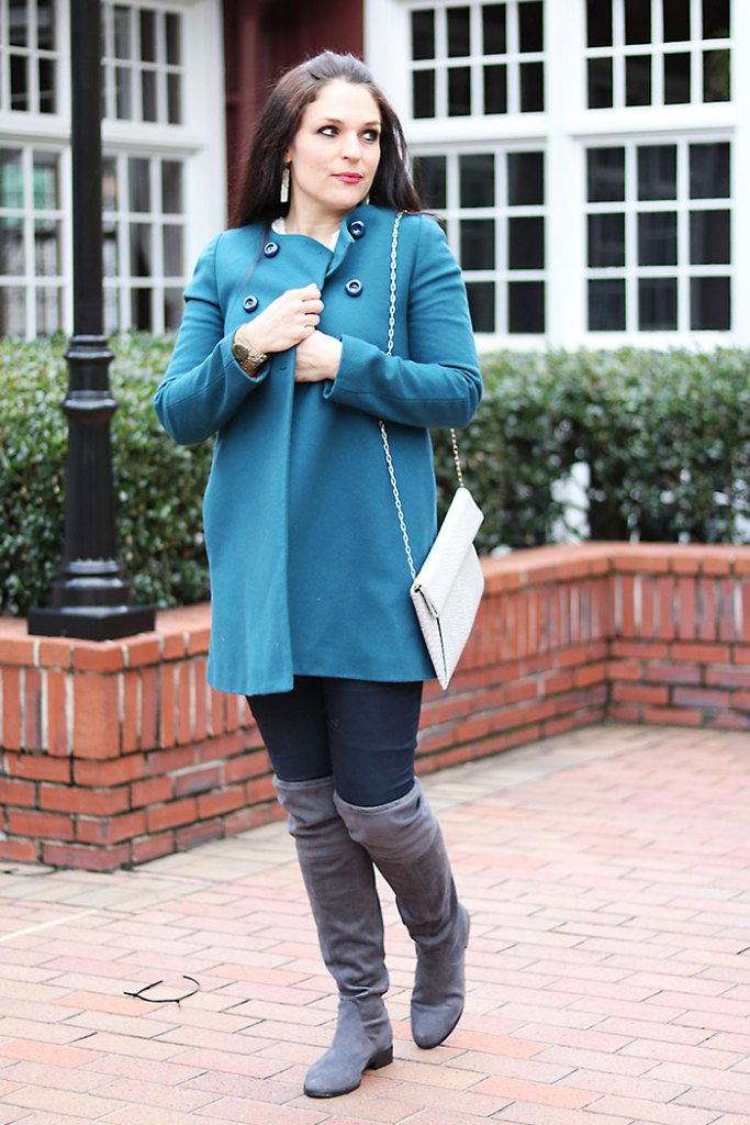over-the-knee-boots-winter-outfits mom style winter outfit steve madden