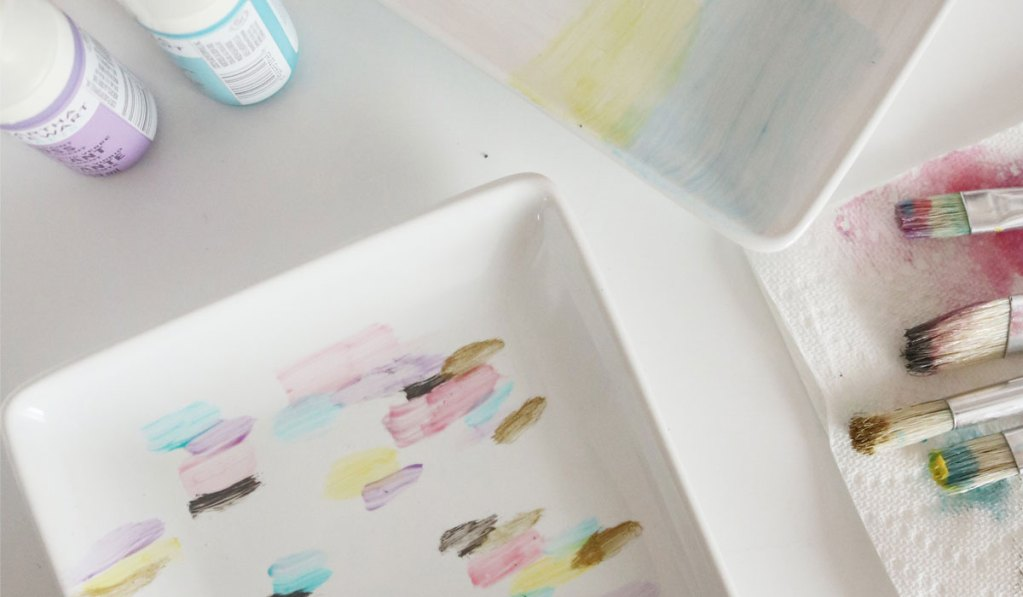 DIY Painted Watercolor Tray