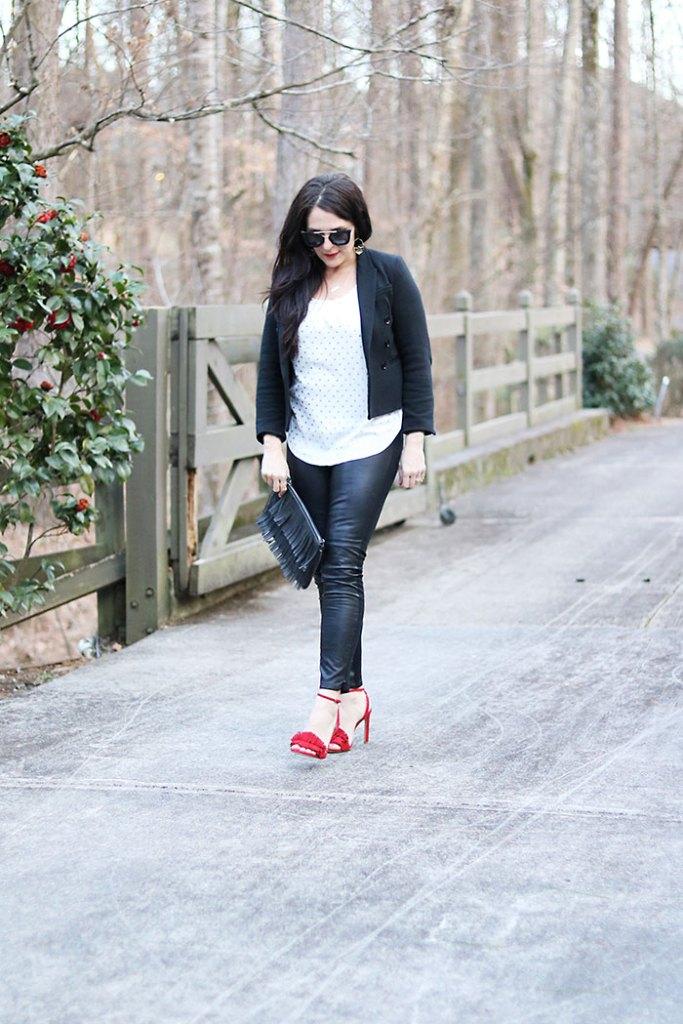 casual-sexy-black-blazer-leather-pants