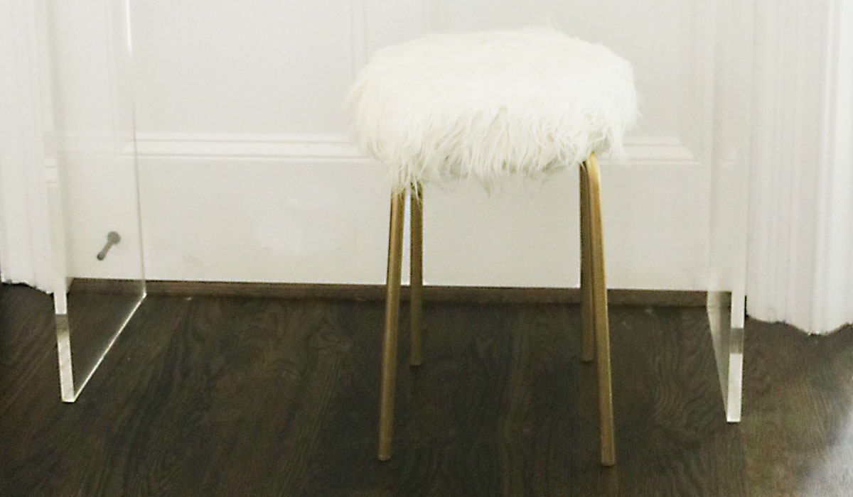 DIY Ikea Hack White Fur Stool Darling Darleen A Lifestyle Design Blog