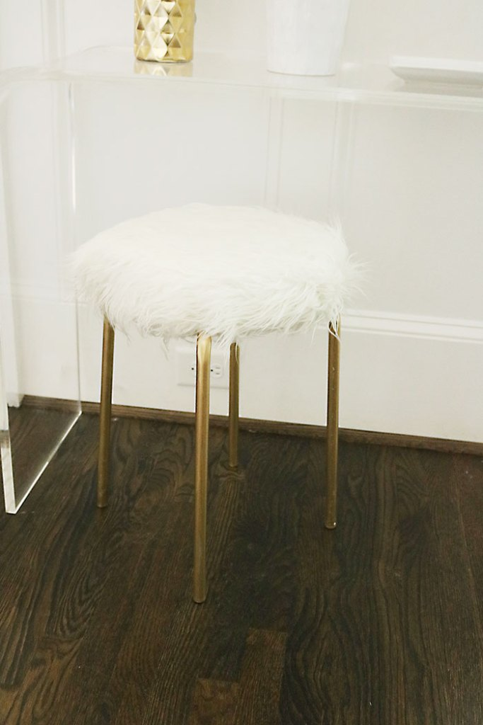 Diy Ikea Hack White Fur Stool Darling Darleen A