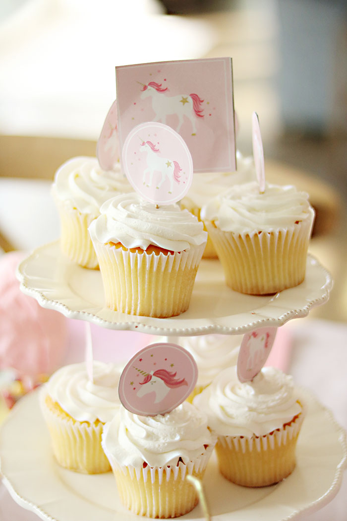 photo relating to Unicorn Cupcake Toppers Printable known as Cost-free Unicorn Printables Roundup