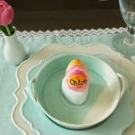 Watercolor Easter Eggs Place Cards