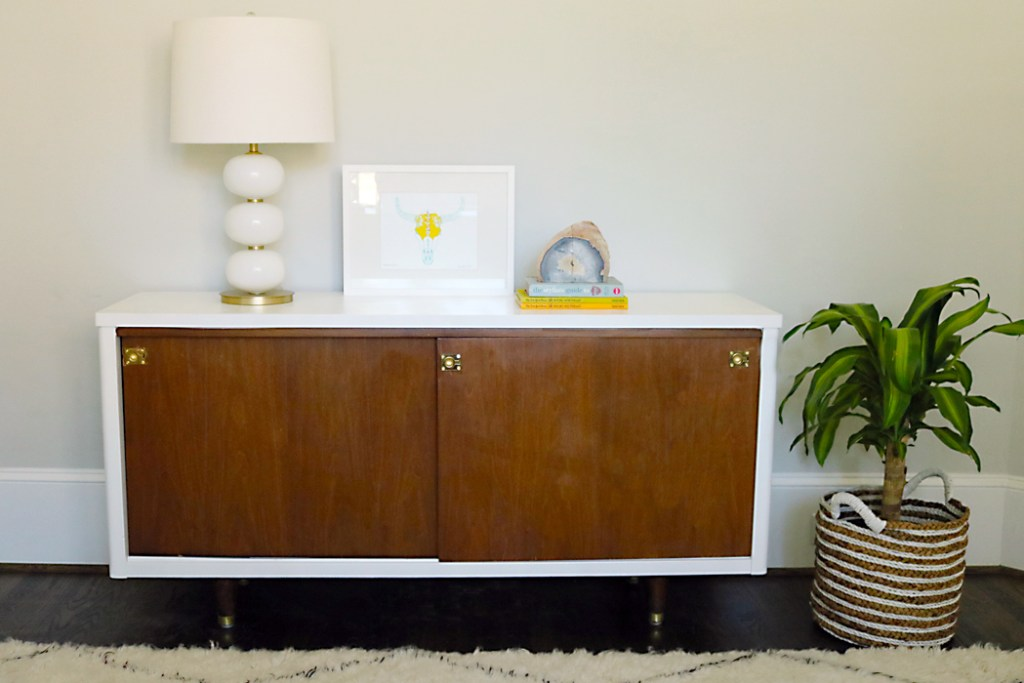 mid century credenza make over lacquer