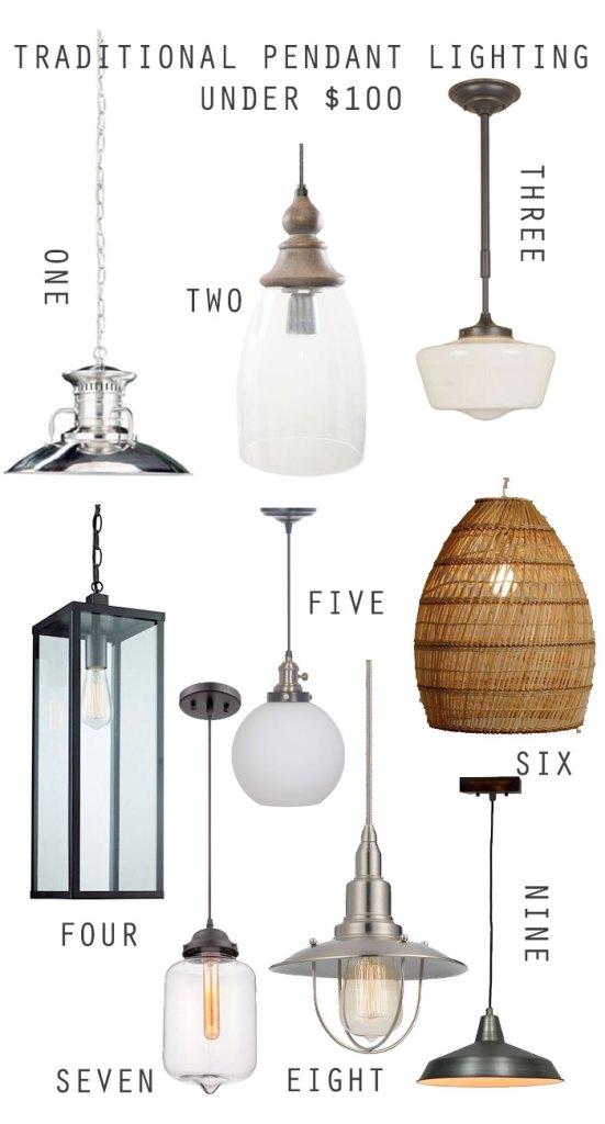 traditional-pendant-lighting, cheap lighting, budget lighting, traditonal lighting, schoolhouse lighting, lantern lighting