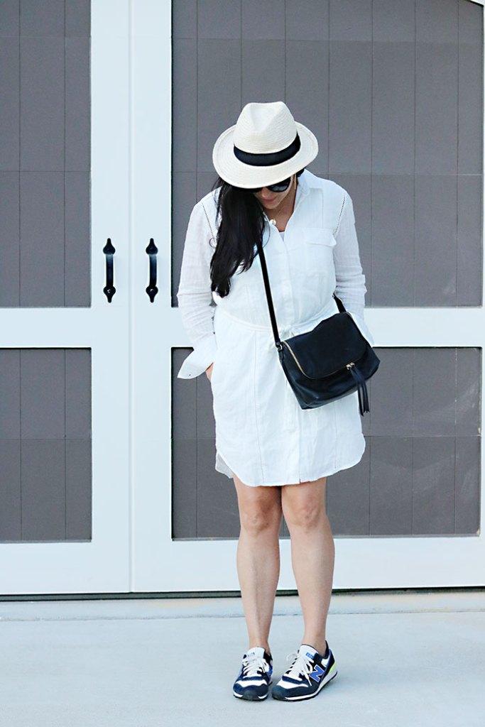 weekendwear-white-shirt-dress, gap style, panama hat, shirt dress, spring style, weekend wear, weekend style, weekend outfit ideas