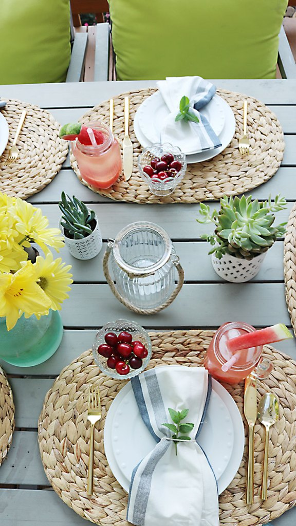 cherries-in-a-bowl-on-table, 10 tips for the perfect outdoor backyard party, bbq, barbecue, barbeque, backyard dinner, ideas, tips