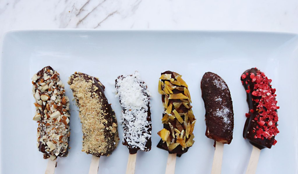 Healthy Chocolate Banana Pops