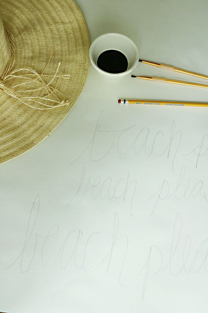 diy-word-script-straw-hat-writing