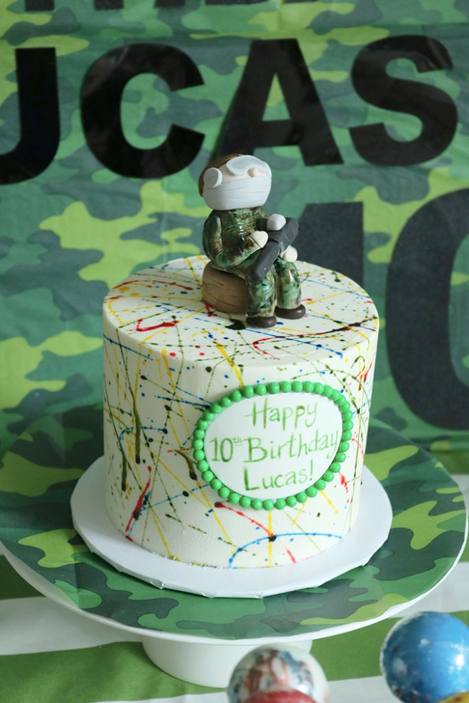 paintball-birthday-cake, paintball birthday party, paintball figure, paintball birthday cake for a boy