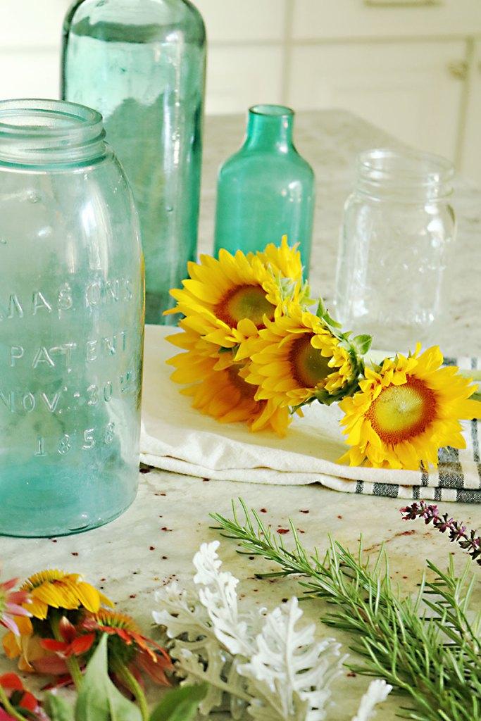 5-minute-flower-arrangment-sunflowers