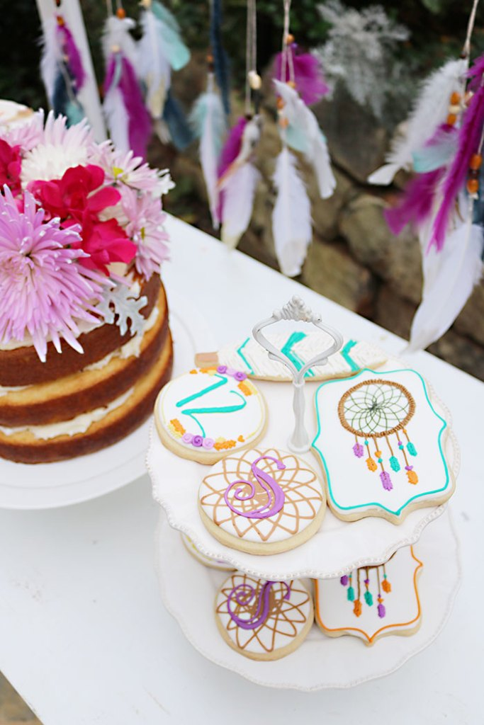 boho-dream-catcher-sugar-cookies