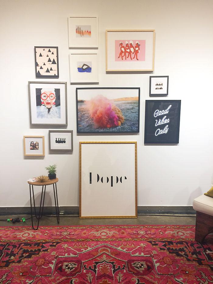 create-and-cultivate-gallery-wall, create + Cultivate atlanta framebridge