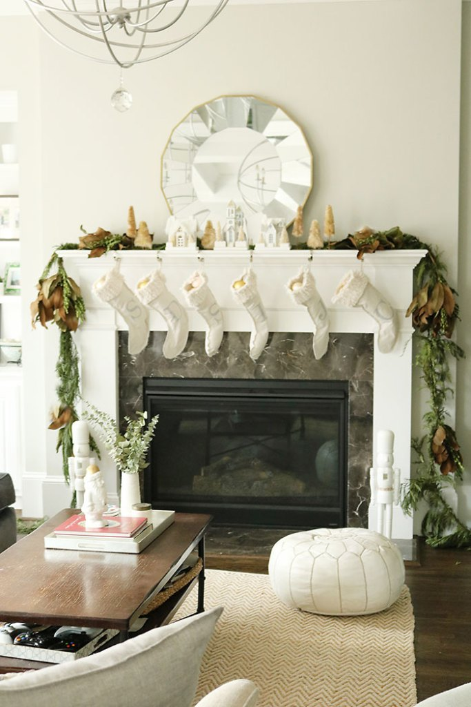 christmas decorations living room shot fireplace mantle christmas decorations magnolia