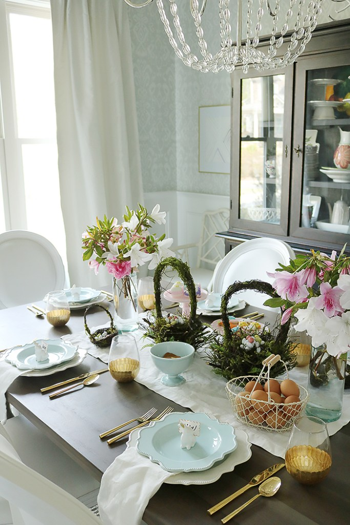 Easter Tablescape Using Flower Branches Darling Darleen