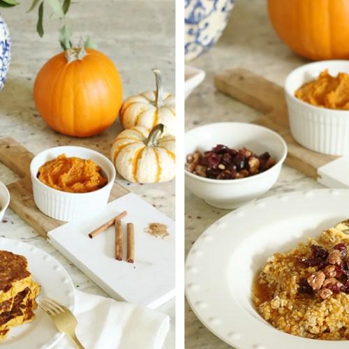 3 Healthy Pumpkin Breakfast Recipes