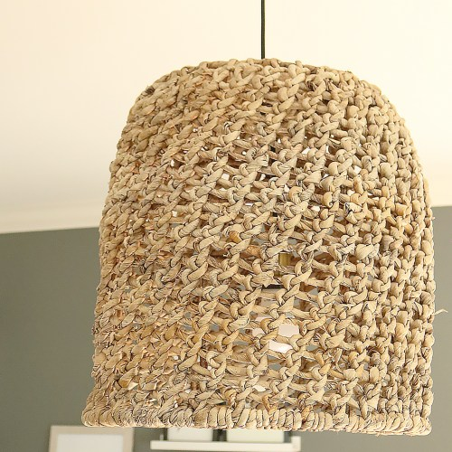 DIY Basket Light Pendant