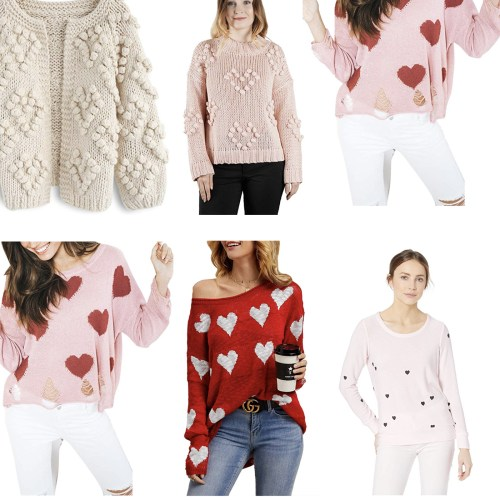 Heart Shape Sweaters