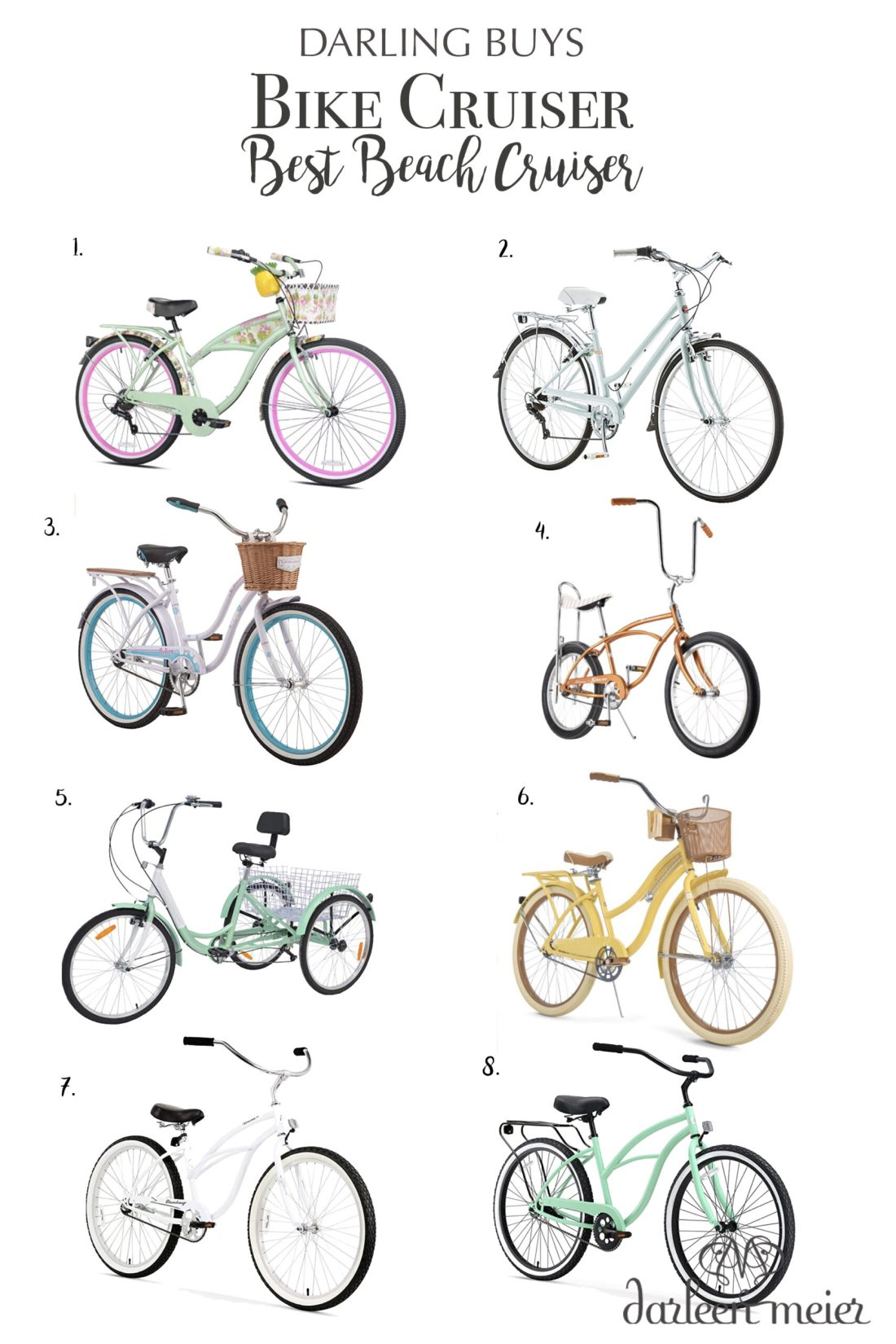 Best Bike cruisers to motivate you to get you out on a bike ride this summer.  Love riding my bike to the beach! || Darling Darleen Top Connectiuct Lifestyle Blogger