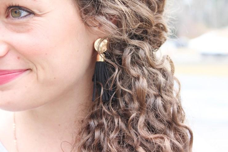 black marley lilly earrings
