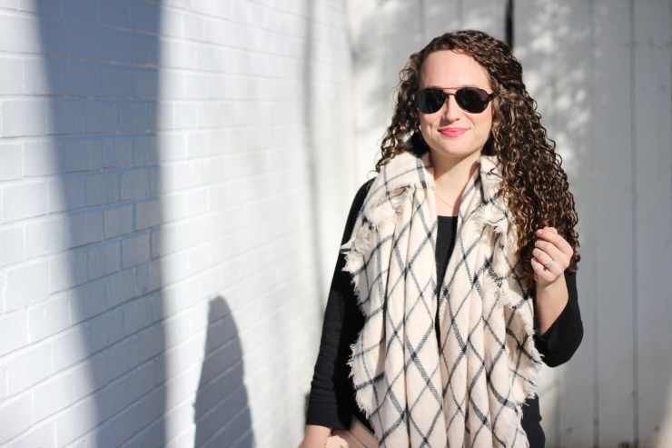 black and white late winter outfit