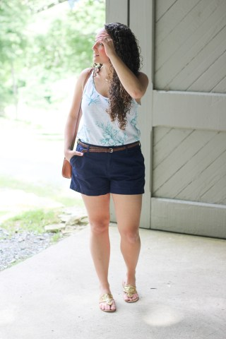 tucked in tank easy summer outfit