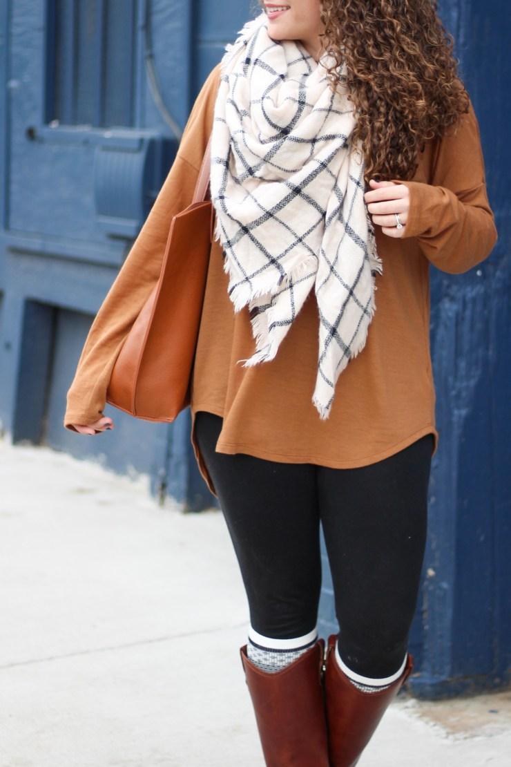 camel-tunic-grid-blanket-scarf-1