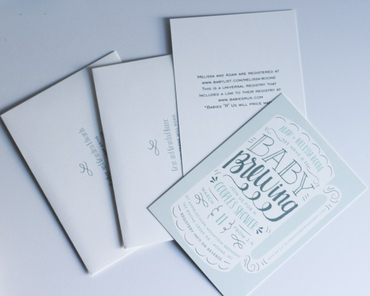minted baby shower invites coed brewery shower