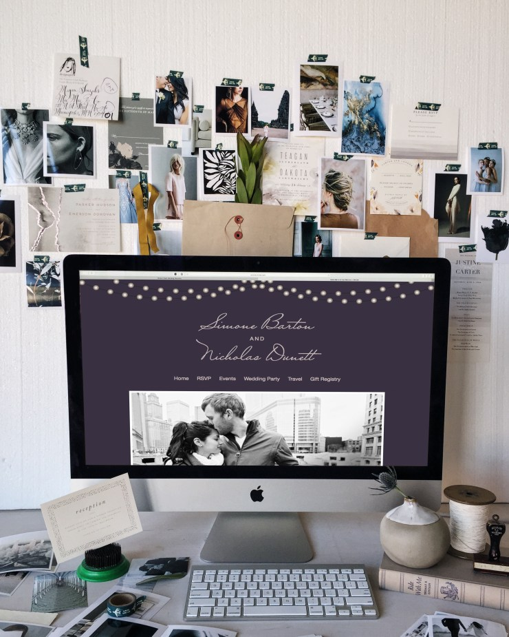 Minted wedding website