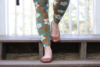 LuLaRoe One Size Leggings and Fit In Clouds Flats