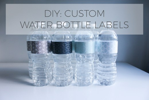 DIY custom water bottle label with Nestle Pure Life #PureLife35pk #ad