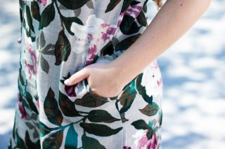 floral tunic outfit for fall