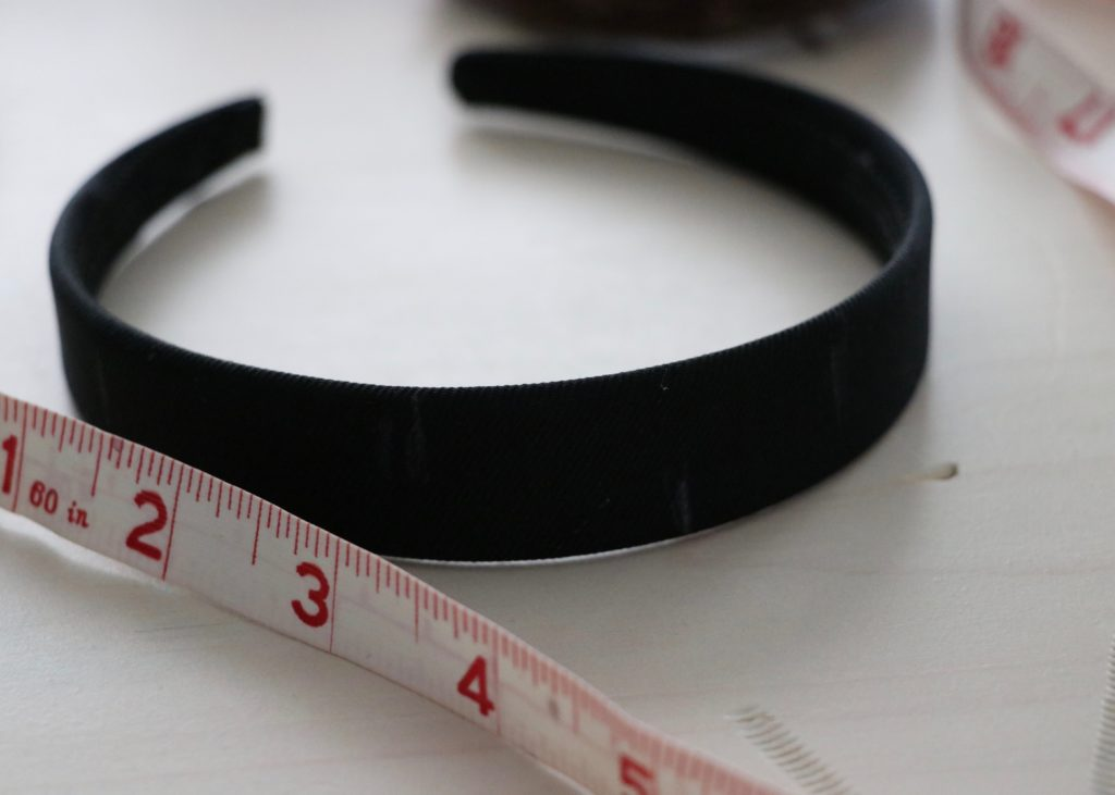 Measure to the centre of the headband