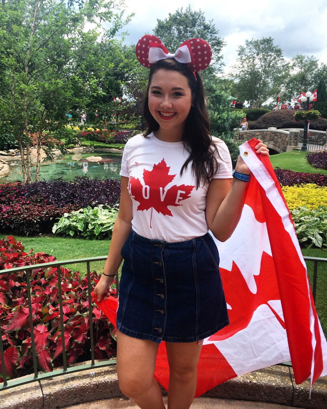 Kenzie Spending Canada Day at Disney World