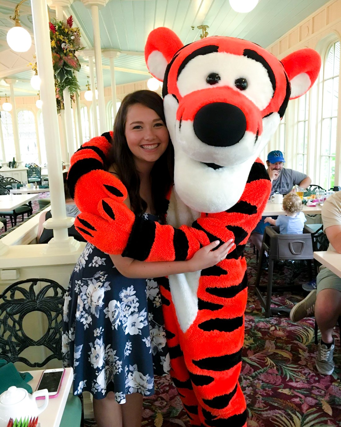 The Crystal Palace in the Magic Kingdom is a go-to Character dining experience and you get to meet Tigger too!