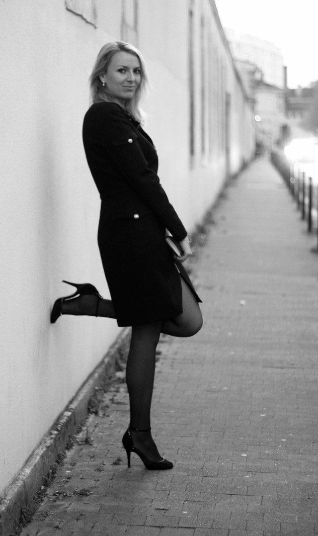 robe manteau thierry mugler pochette escarpins zara vernis dior 9bis