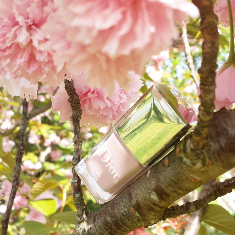 chanel, dior, miss dior, vernis, pieds de poule, lady, blush, fleur, cerisier, jardin de chanel, camélia