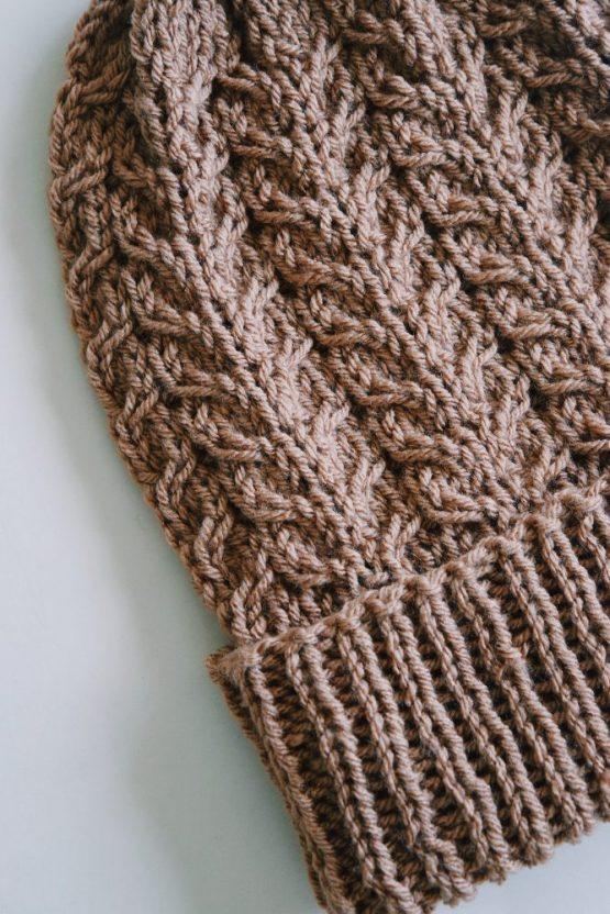 knit beanie knitting pattern